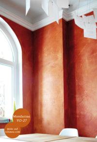 Mikrozement fugenlose Volimea Wandbeschichtung im Büro - Beton VO-27 Fresko