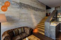 Mikrozement fugenlose Volimea Wandbeschichtung in einem Cafe - Schilf-VO-24
