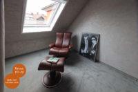 Mikrozement fugenlose Volimea Wandbeschichtung im Lesezimmer - Beton VO-20