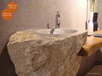 Mikrozement fugenlose Volimea Wandbeschichtung Waschtisch - Cappucino VO-22